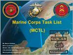 Marine Corps Task List  MCTL
