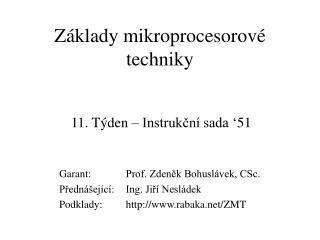 Základy mikroprocesorové techniky