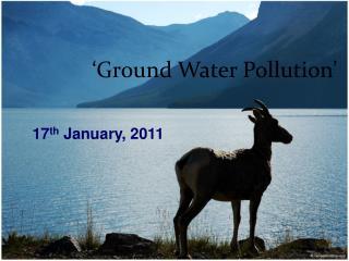 'Ground Water Pollution'