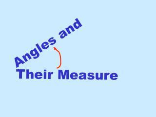 Angles and