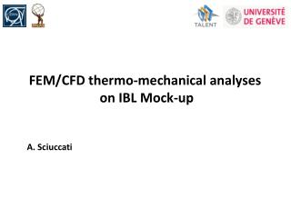 FEM/CFD thermo-mechanical analyses  on IBL Mock-up A. Sciuccati