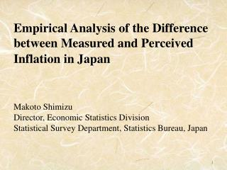 Empirical Analysis of the Difference between Measured and Perceived Inflation in Japan