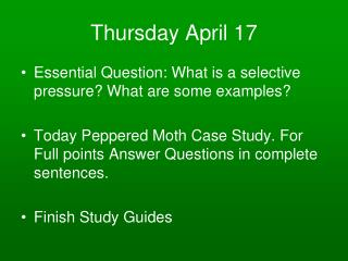 Thursday April 17