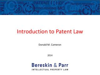 Introduction to Patent Law