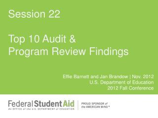 Top 10 Audit & Program Review Findings