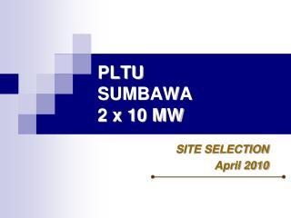 PLTU  SUMBAWA 2 x 10 MW