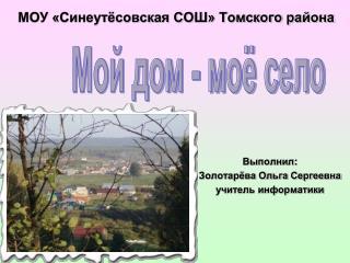 МОУ «Синеутёсовская СОШ» Томского района