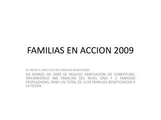 FAMILIAS EN ACCION 2009