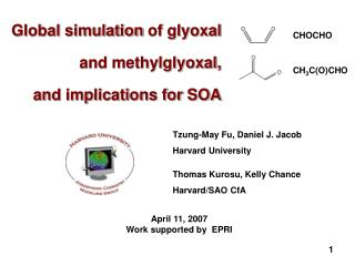 Global simulation  of glyoxal and methylglyoxal, and implications for SOA