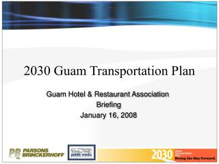 2030 Guam Transportation Plan