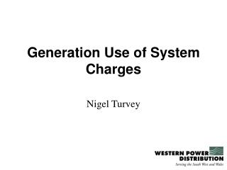 Generation Use of System Charges