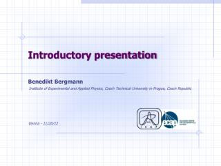 Introductory presentation