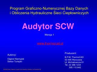 Program Graficzno-Numerycznej Bazy Danych i Obliczenia Hydrauliczne Sieci Ciepłowniczych