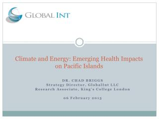 Climate and Energy: Emerging Health Impacts on Pacific Islands