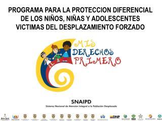 Sistema Nacional de Atención Integral a la Población Desplazada- SNAIPD-