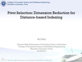 Pivot Selection: Dimension Reduction for Distance-based Indexing