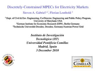 Discretely-Constrained MPECs for Electricity Markets