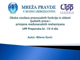 Autor:  Milena Savić