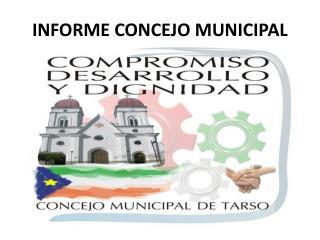 INFORME CONCEJO MUNICIPAL