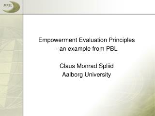 Empowerment Evaluation Principles