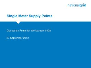 Single Meter Supply Points