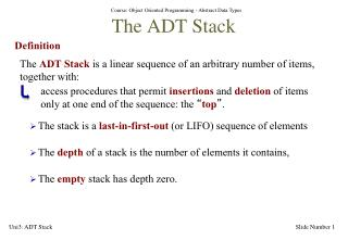 The ADT Stack