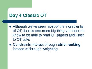 Day 4 Classic OT