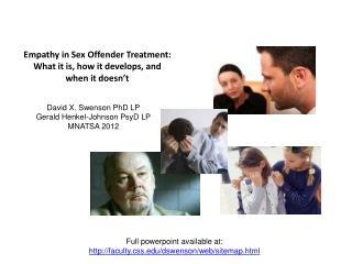 Empathy in Sex Offender Treatment:  What it is, how it develops, and      when it doesn�t