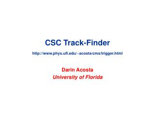 CSC Track-Finder phys.ufl/~acosta/cms/trigger.html