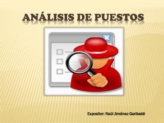 ANÁLISIS DE PUESTOS