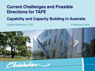 Current Challenges and Possible Directions for TAFE Capability and Capacity Building in Australia