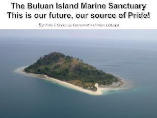 The  Buluan  Island Marine Sanctuary This is our future, our source of Pride!