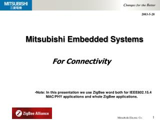Mitsubishi Embedded Systems