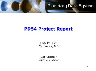 PDS4 Project Report