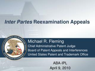 Inter Partes  Reexamination Appeals
