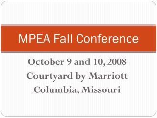 MPEA Fall Conference