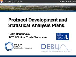 Protocol Development and Statistical Analysis Plans