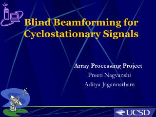 Blind Beamforming for Cyclostationary Signals