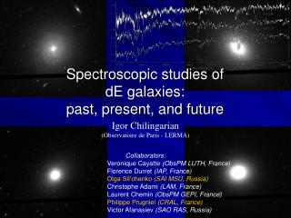 Spectroscopic studies of  dE galaxies:  past, present, and future