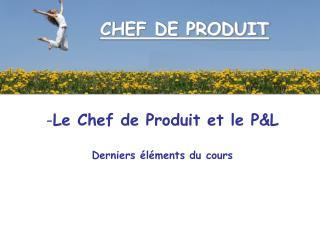 CHEF DE PRODUIT
