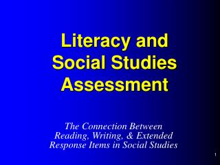 Literacy and  Social Studies Assessment