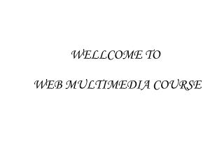 WEB MULTIMEDIA COURSE