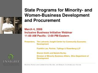 State Programs for Minority- and Women-Business Development and Procurement