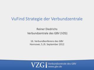 VuFind  Strategie  der Verbundzentrale