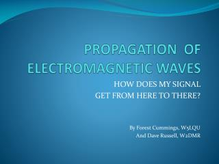 PROPAGATION  OF ELECTROMAGNETIC WAVES