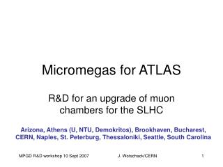 Micromegas for ATLAS