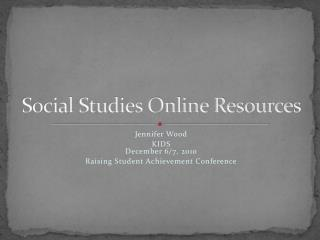 Social Studies Online Resources