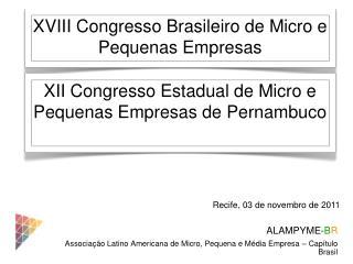 ALAMPYME- B R Associação Latino Americana de Micro, Pequena e Média Empresa – Capítulo Brasil