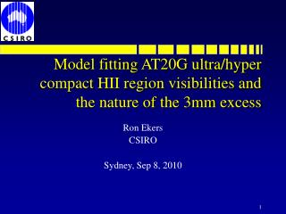 Model fitting AT20G ultra/hyper compact HII region visibilities and the nature of the 3mm excess