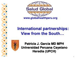 International partnerships:  View from the South…